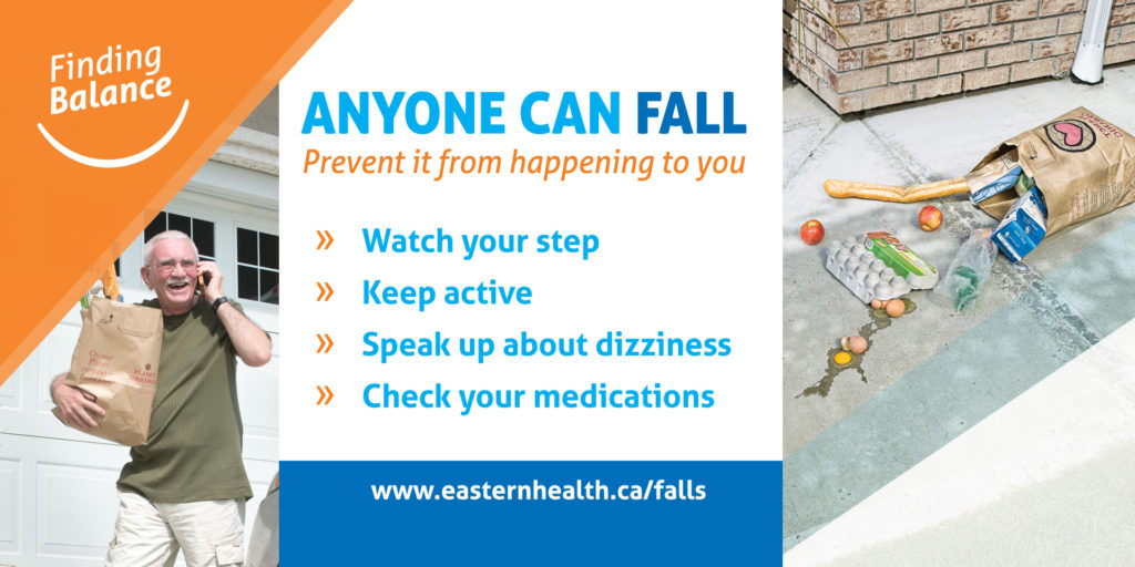 Finding Balance, Eastern Health's falls prevention campaign