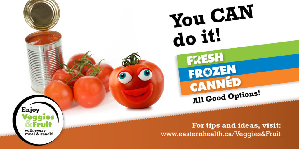 Veggies & Fruit Campaign, Eastern Health
