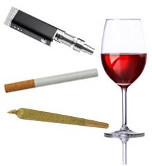 tobacco, alcohol, cannabis